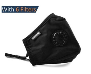 Washable Pollution Masks with N95-N99 Filters, Cotton with Adjustable Ear Straps