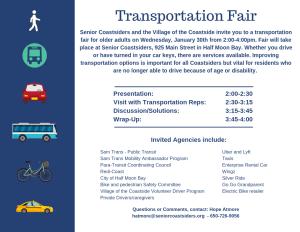 Transportation Fair for Older Adults at Seniors Center @ SEnior Coastsiders | Half Moon Bay | California | United States