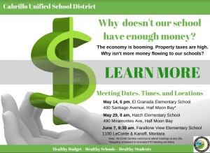Why Doesn't Our School Have Enough Money? @ Farallone School | Half Moon Bay | California | United States