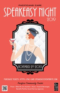 Speakeasy Night Fundraiser for Pacifican Cares! @ Pacifica Community Center | Pacifica | California | United States