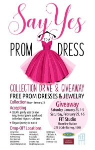 SAY YES! to a Prom Dress Collection Drive and Giveaway at the NEW FIT Studios @ Fit Studio - Shoreline Station