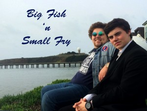 Garrett Glasson and Darren Simer present Big Fish and Small Fry podcast.