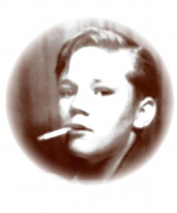 Thomas Sheffield at age 13 smoking a cigarette.