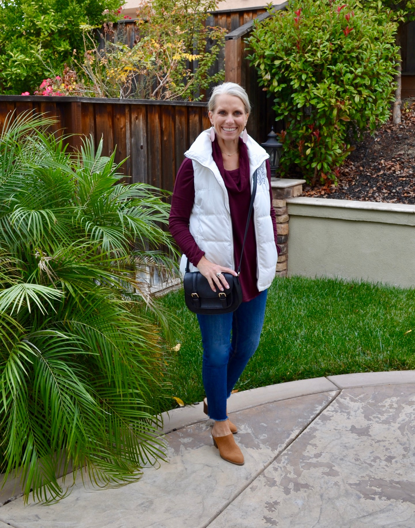 The Softest Cowl Neck Burgundy Tunic