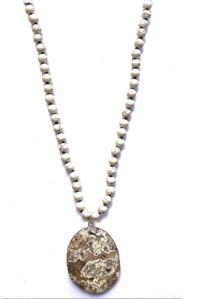 Accessory Concierge Stone Pendant