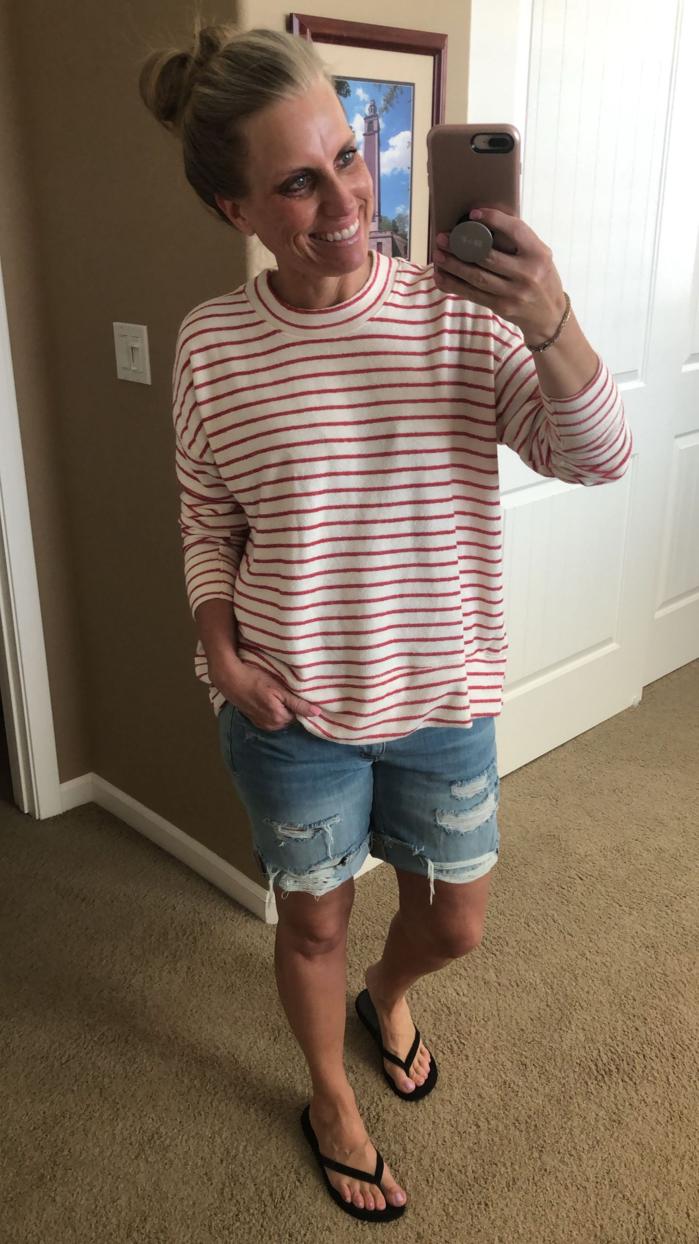 favorite sweatshirt and denim shorts, memorial day sales
