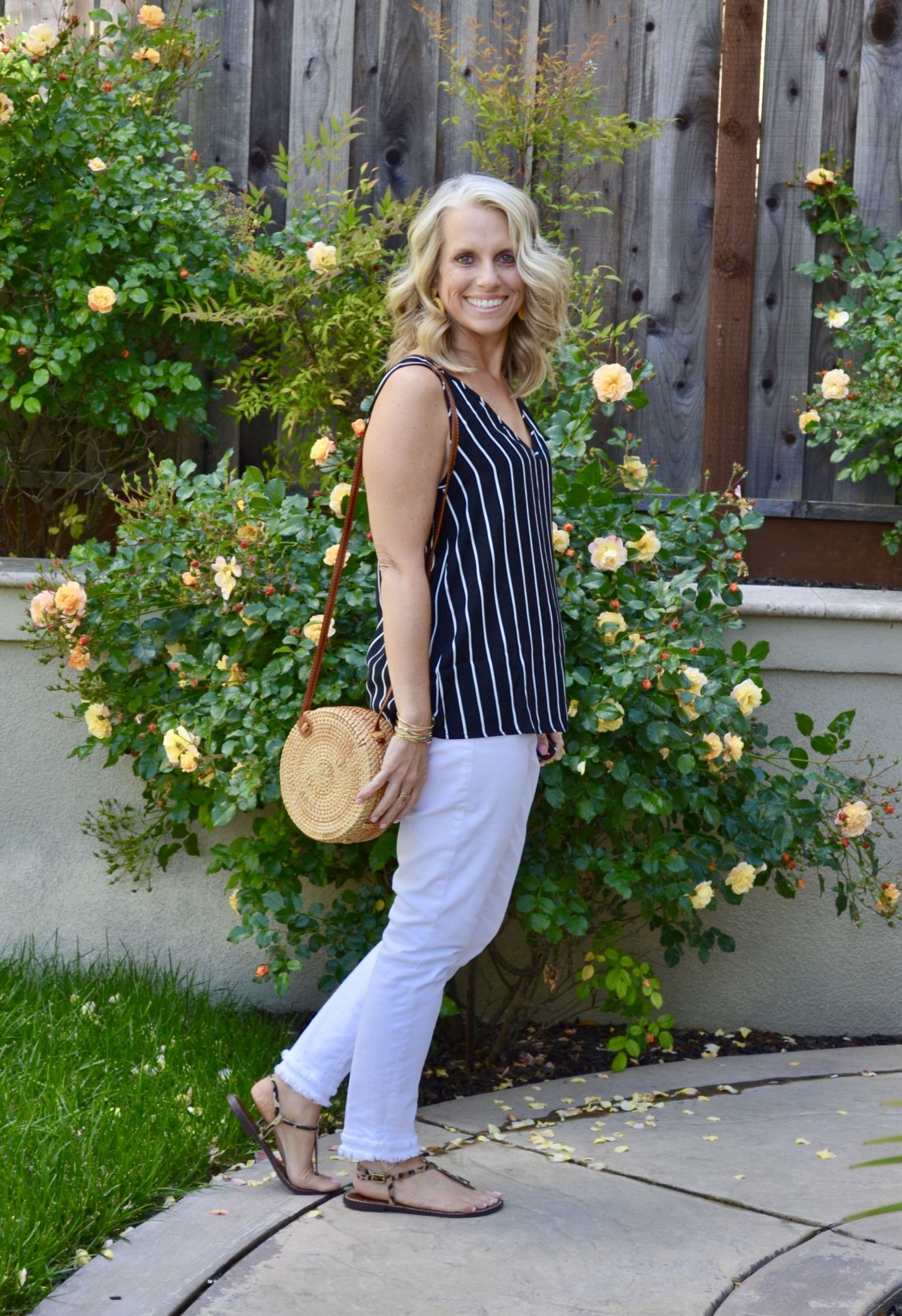 Black Striped Tank from Pink Blush