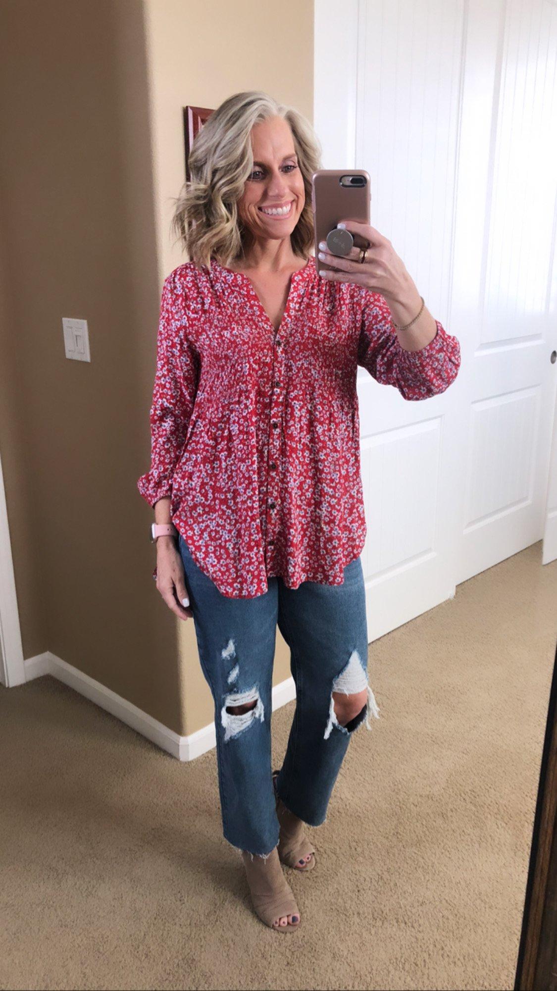 Target smocked blouse