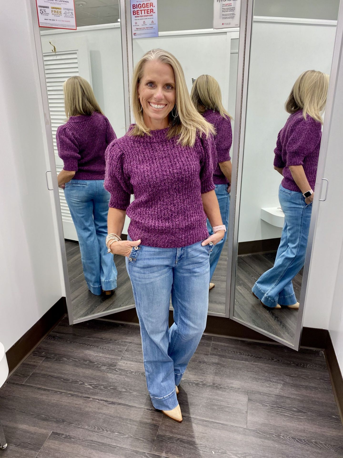 Short Sleeve Sweater from Macy's