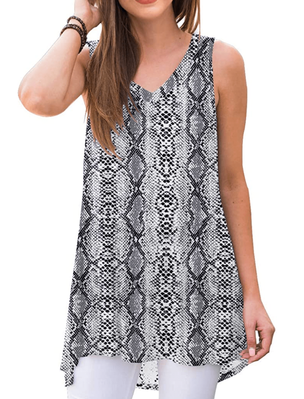 Amazon snakeskin tunic
