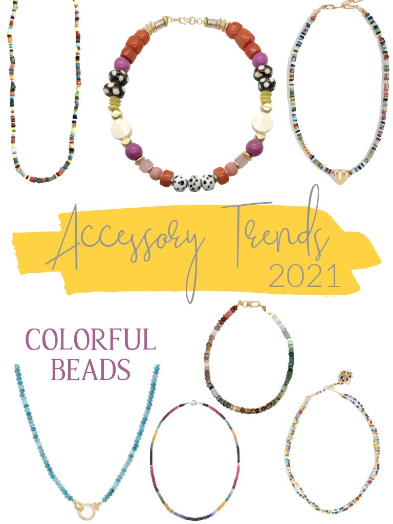 colorful bead accessory trend 2021