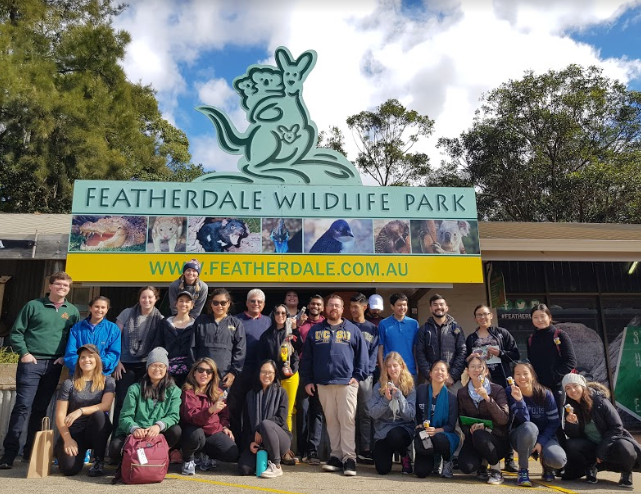 Featherdale Wildlife Park Blue Mountains International Student abroad group tour
