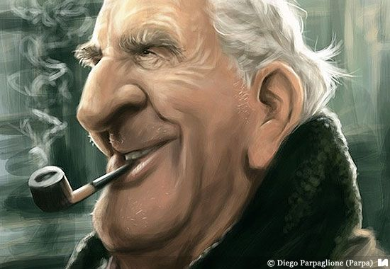 J.R.R. Tolkien caricature by Diego Parpaglion