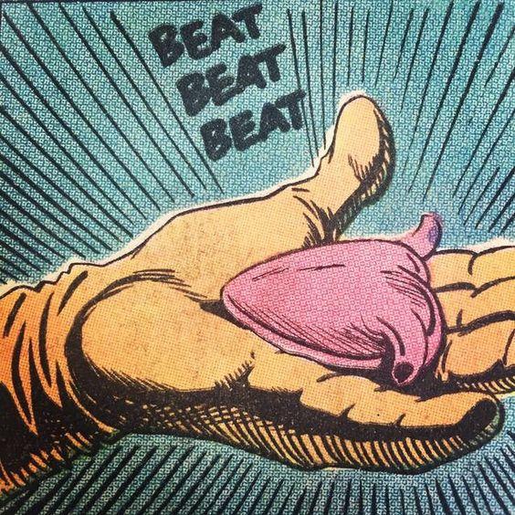 comic book heart