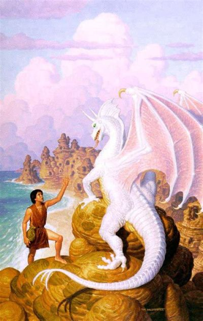 A depiction of Jaxom and Ruth, by Tim Hildebrandt