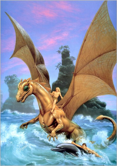 Cover for The Dolphins of Pern, by Rowena Morril