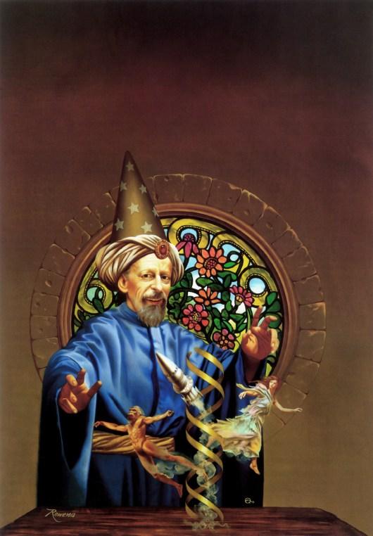 Rowena Morrill artwork of wizard