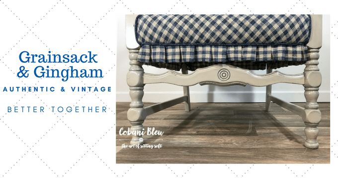 Seriously, What Could Possibly Be Better Than A Vintage Chair Updated With  Authentic Grainsack And Gingham! Letu0027s Start At The Beginning.