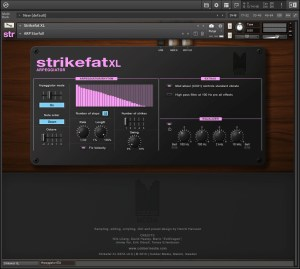 StrikefatXL GUI arpeggiator