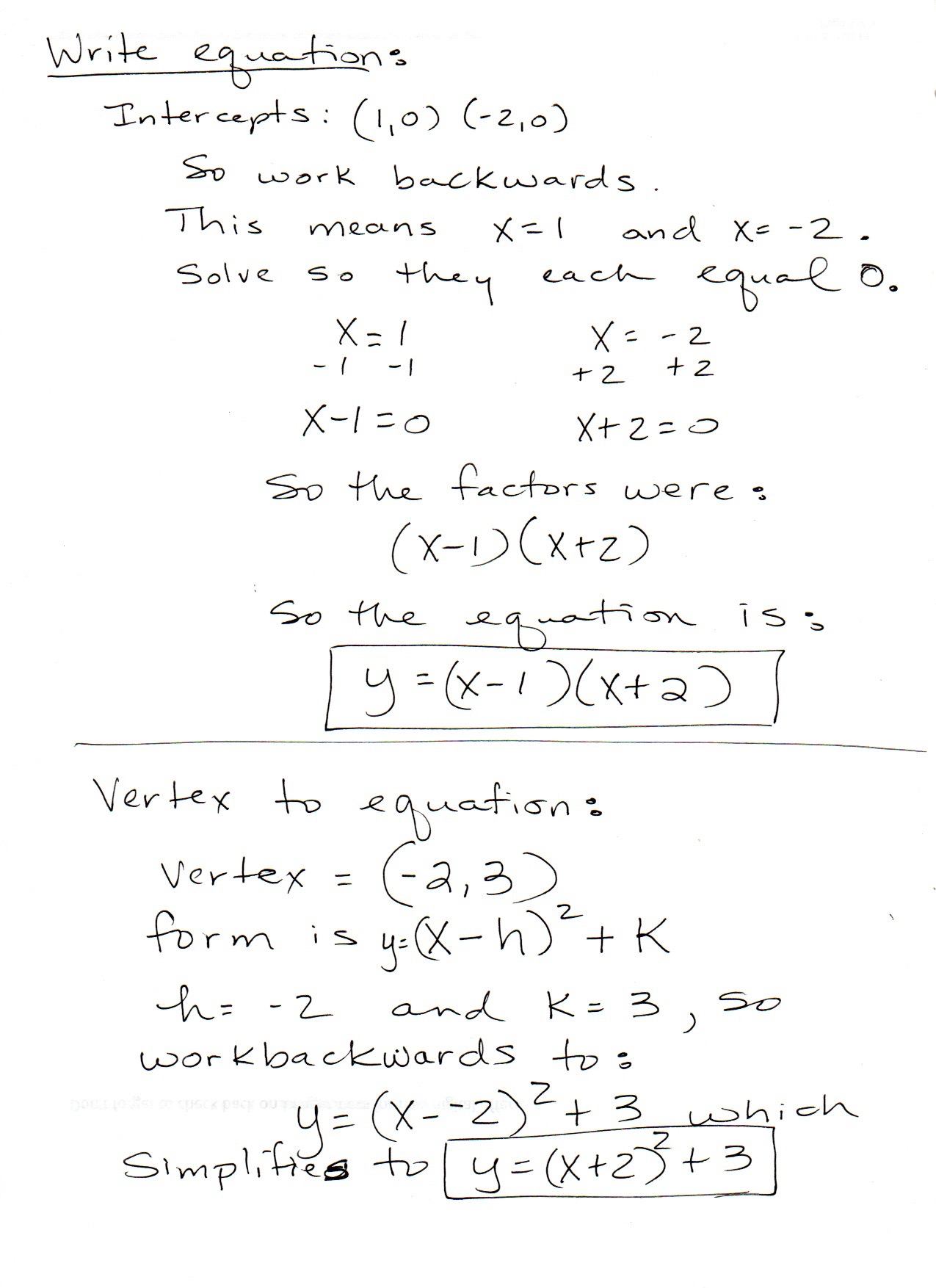 Converting Quadratics Vertex Form To Standard Form Worksheet