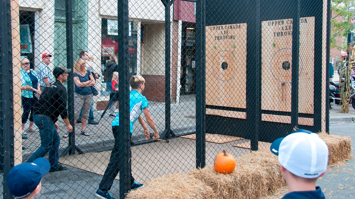 Harvest Festival 2017 - Axe throwing