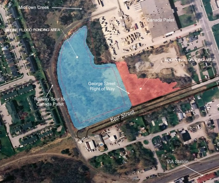 Mid Town Creek Pond proposal