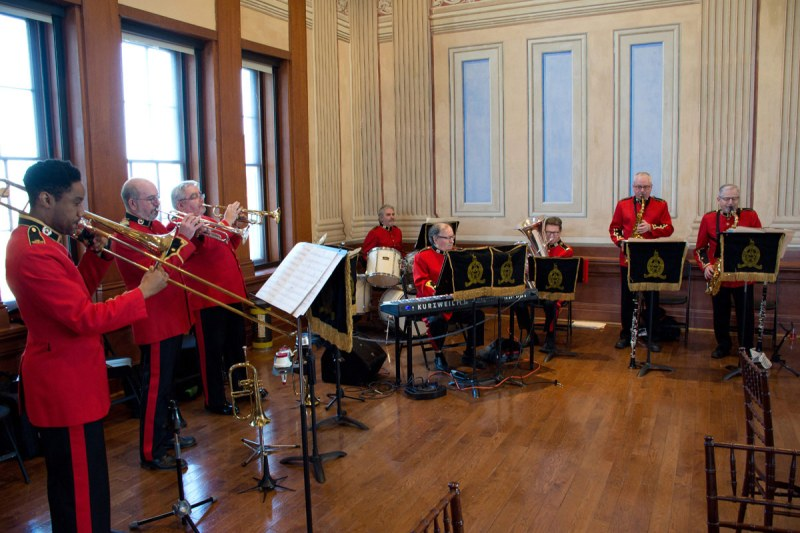 A small group of the Concert Band provided entertainment