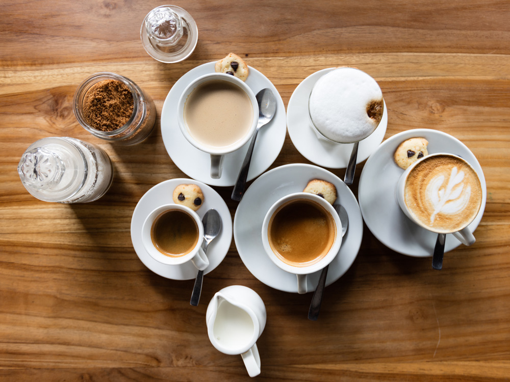 Cups of coffee