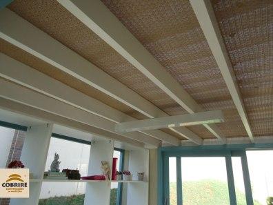 Forro de palha para pergolado, pergola, parede, teto, cobertura , forração. Esteira, manta, palhinha. Modelos e Preço.
