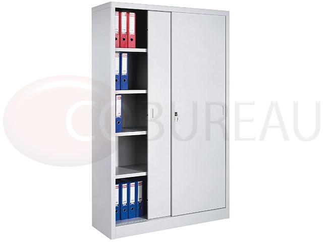 armoire metallique a portes coulissantes l 120 x h 200 cm