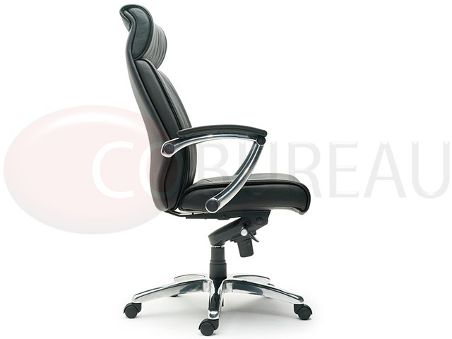 cuir veritable fauteuil direction boss dossier haut