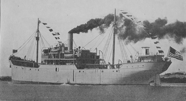Ferris wooden steamship