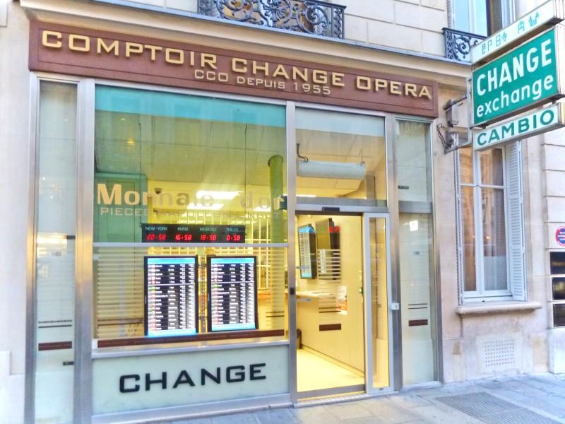 comptoir change opera