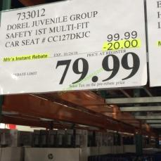 Costco 733012 D0rel Juvenile Group Safety 1st Carseat Cuts 20 Off On Dorel Juvebile MultiFit 3 In1