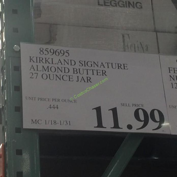Costcochaser: Kirkland Signature Almond Butter