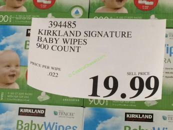 costco-394485-Kirkland-Signature-Baby-Wipes -tag