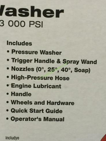PowerStroke 3000 PSI Pressure Washer powered by Honda