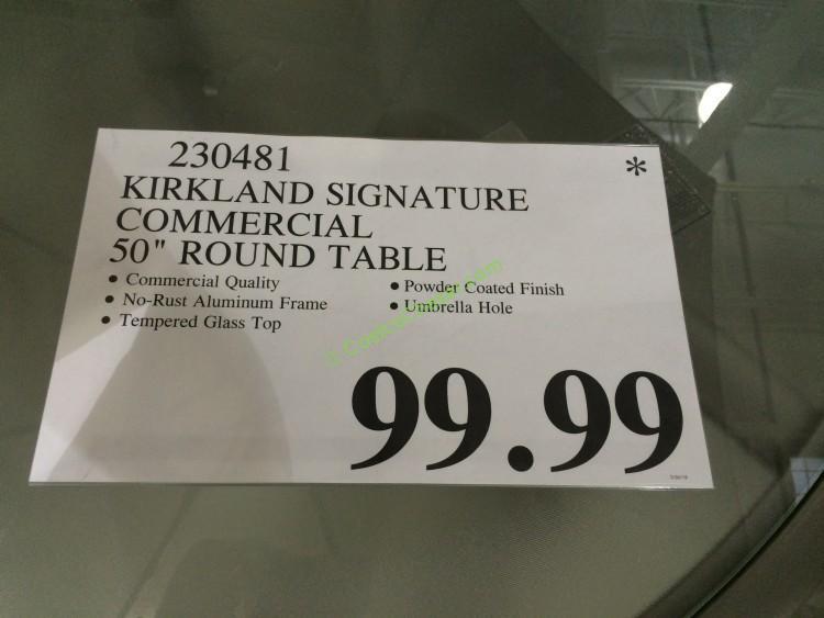 Costco 230481 Kirkland Signature Commercial 50 Round Table