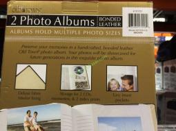 Old Town 3up Leather Photo Album 2pk Holds 300 Ea Costcochaser