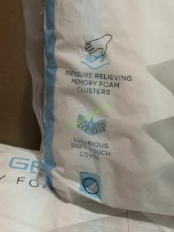 Purelux Gel Cloud Memory Foam Cluster Pillow 2 Pk