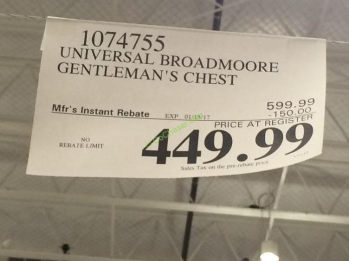 Universal Broadmoore Gentleman S Chest Costcochaser