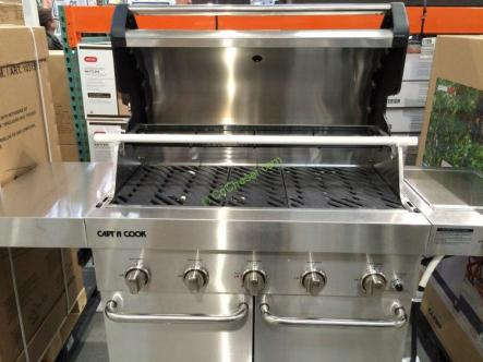 Capt N Cook 5-Burner LP Gas Grill with Side Burner – CostcoChaser