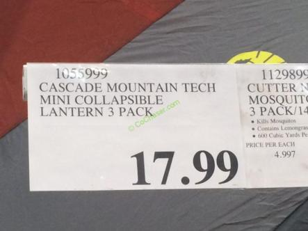 Costco-1055999-Cascade-Mountain-Tech-Mini-Collapsible-Lantern-tag