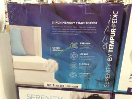 Serenity By Tempur Pedic Memory Foam Mattress Topper Queen