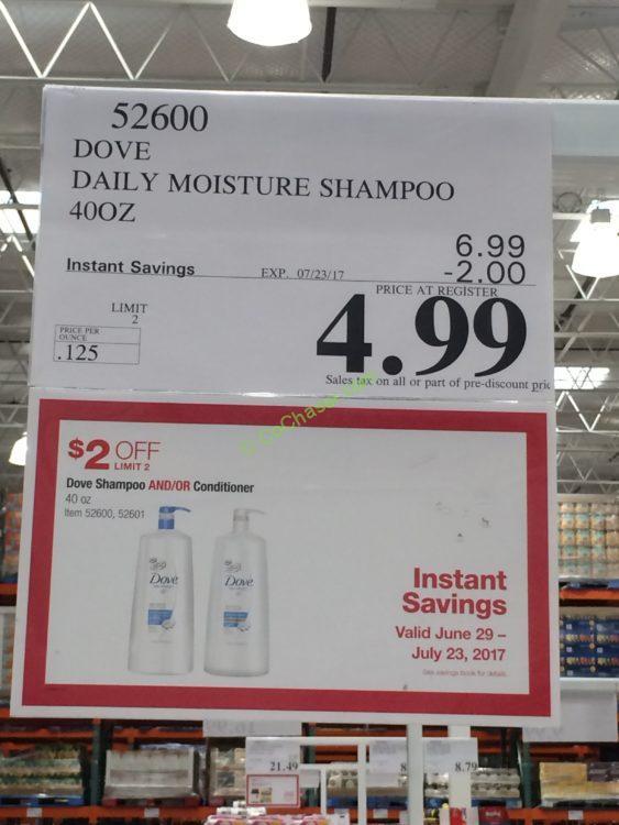 Dove Daily Moisture Shampoo Or Conditioner 40 Oz