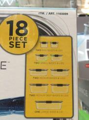 Costco-1103099-Rubbermaid-Brilliance-18PC-Food-Storage-Set-item