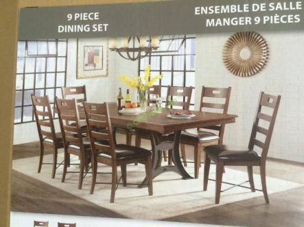 Costco-1119052-IMAGIO-Home-Furniture-9PC-Dining-Set-with-Cast-Iron-Base-pic1
