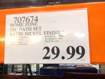 Costco-707674-Home-Zone-5PC-Bath-Set Stain-Nickel-Finish-tag