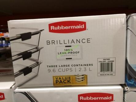 Costco-1050080-Rubbermaid –Brilliance-Food-Storage-Set-box