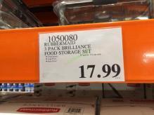 Costco-1050080-Rubbermaid –Brilliance-Food-Storage-Set-tag
